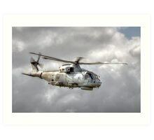 Royal Navy Merlin Art Print