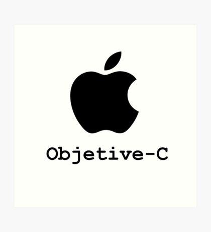objetive-c programming language Art Print