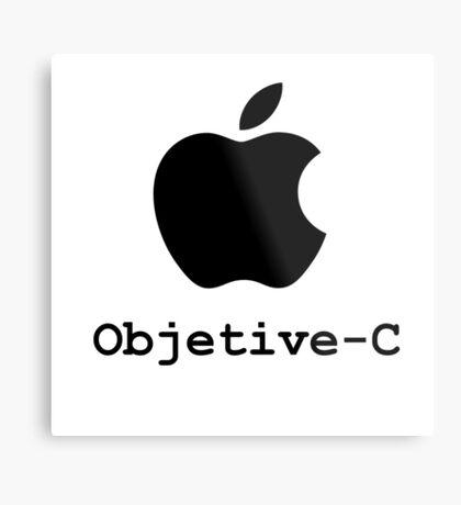 objetive-c programming language Metal Print