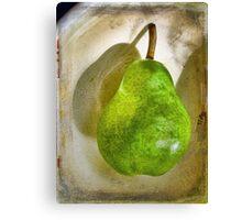 Green Pear # 7 Canvas Print