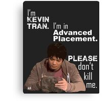 Kevin Tran - Supernatural - Advanced Placement - WhiteText Canvas Print