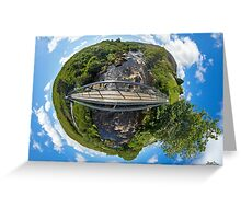 Footbridge over Glen River, Carrick, SW Donegal Greeting Card