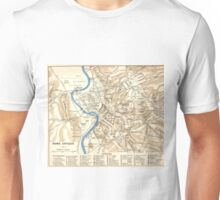 Vintage Map of Rome Italy (1870) Unisex T-Shirt