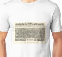 Vintage Pictorial Map of Rutherford NJ (1904) Unisex T-Shirt