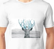 Deer Illustration with Photography Unisex T-Shirt