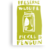 Pickle a Penguin Metal Print
