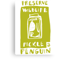 Pickle a Penguin Canvas Print
