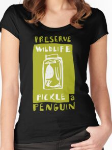 Pickle a Penguin Women's Fitted Scoop T-Shirt