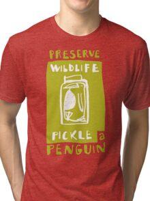 Pickle a Penguin Tri-blend T-Shirt