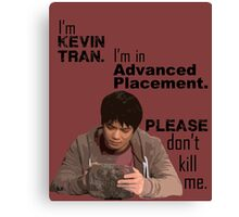 Kevin Tran - Supernatural - Advanced Placement - Black Text Canvas Print