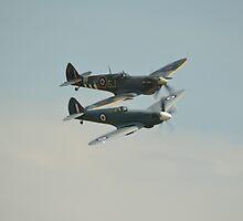 BBMF Spitfires by Andy Jordan