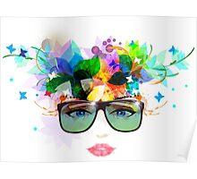 Sunglasses Woman Poster