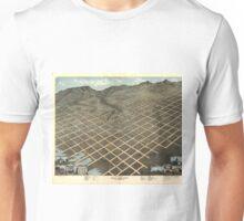 Vintage Pictorial Map of Salt Lake City (1870) Unisex T-Shirt