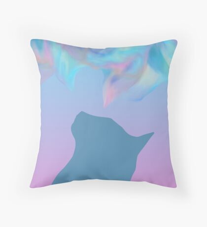 Cat Colored Dream ! Throw Pillow