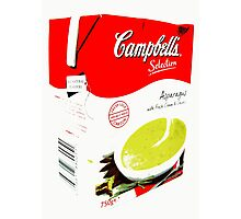 Campbell's Soup, asparagus Photographic Print