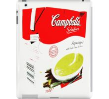 Campbell's Soup, asparagus iPad Case/Skin