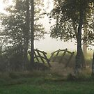 Misty bridge by Heather Thorsen