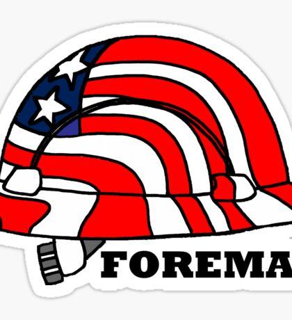 Foreman Construction Hard Hat America Sticker