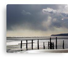 Rain on the Beach Canvas Print