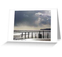 Rain on the Beach Greeting Card