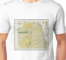 Vintage Map of San Francisco CA (1898) Unisex T-Shirt