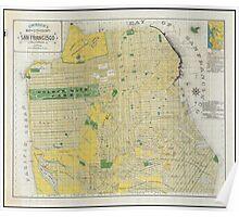 Vintage Map of San Francisco CA (1898) Poster