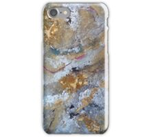 Pink ribbon hiding under pond surface iPhone Case/Skin