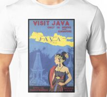 Vintage Java Travel Poster Unisex T-Shirt
