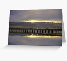 Dramatic sky at Cromarty Bridge Greeting Card