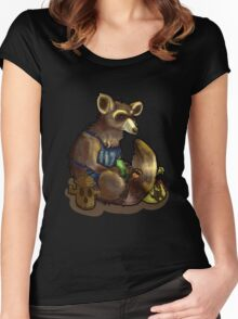 Woodland Tom Nook Women's Fitted Scoop T-Shirt