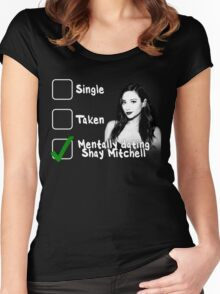 Mentally Dating Shay Mitchell Women's Fitted Scoop T-Shirt