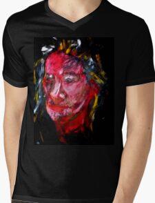 Portrait on Black Mens V-Neck T-Shirt