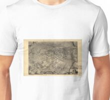 Vintage Pictorial Map of Santa Barbara CA (1896) Unisex T-Shirt