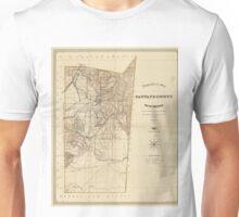 Vintage Map of Santa Fe County NM (1883) Unisex T-Shirt