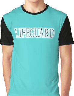 LIFEGUARD,  Swim, Swimmer, Emergency, Rescue, Life Saver,on BLUE, TURQUOISE Graphic T-Shirt
