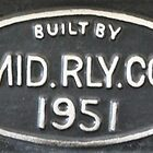 1951 Midland Railway Company Engine Plaque by threewisefrogs