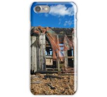 Abandoned Shed on Dungeness Beach iPhone Case/Skin