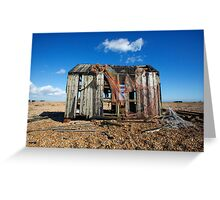 Abandoned Shed on Dungeness Beach Greeting Card