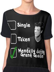 Mentally Dating Grant Gustin Chiffon Top