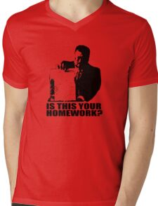 The Big Lebowski Walter Sobchak Homework T shirt Mens V-Neck T-Shirt