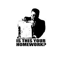 The Big Lebowski Walter Sobchak Homework T shirt Photographic Print
