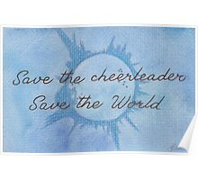 Save the Cheerleader, Save the World Poster