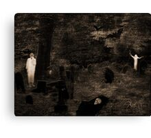 Ghostly Graveyard (please view large) Canvas Print