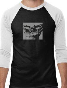 Jet Black Men's Baseball ¾ T-Shirt