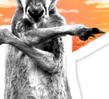 Crazy cool kangaroo Sticker