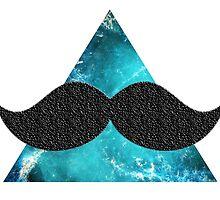 Universe moustache blue by CrazyBlue