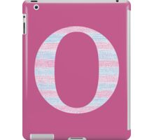 Letter O Blue And Pink Dots And Dashes Monogram Initial iPad Case/Skin