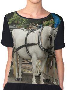 Fancy Wedding Horses Chiffon Top