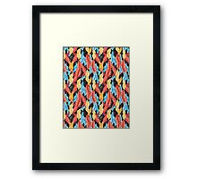 Сolorful pattern with leaves Framed Print