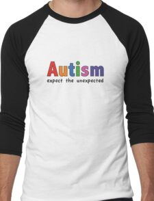 Autism Expect The Unexpected Men's Baseball ¾ T-Shirt